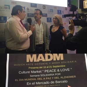 El director del Mercado y la dj Sandy Love presentado el acto a la prensa ayer jueves 15.