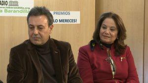 Dos de los premiados, Pepe Ribagorda y Sabina Camacho.
