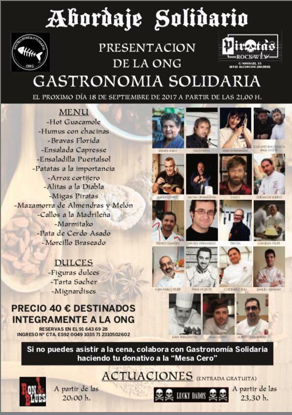 Restaurantes y cocineros muy solidarios la barandilla - Escuela de cocina chema de isidro ...