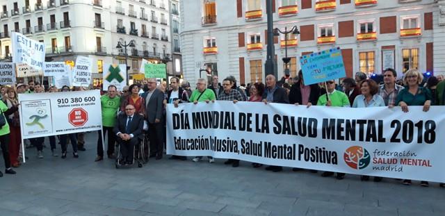 ÉXITO DE LA MANIFESTACIÓN POR LA SALUD MENTAL  EN MADRID.