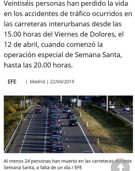 110 MUERTOS. EN ESPAÑA NO SABEMOS CONTAR TODAS LAS MUERTES.