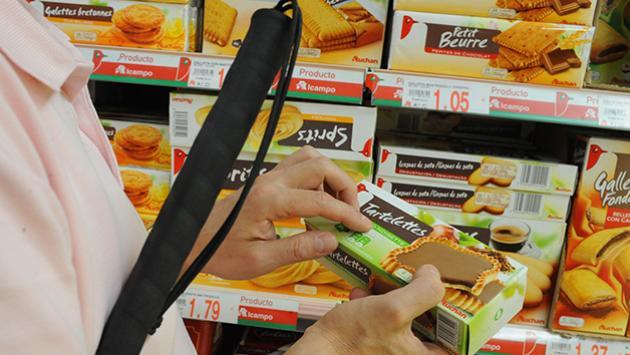 Llega en septiembre la primera tienda con productos etiquetados en braille