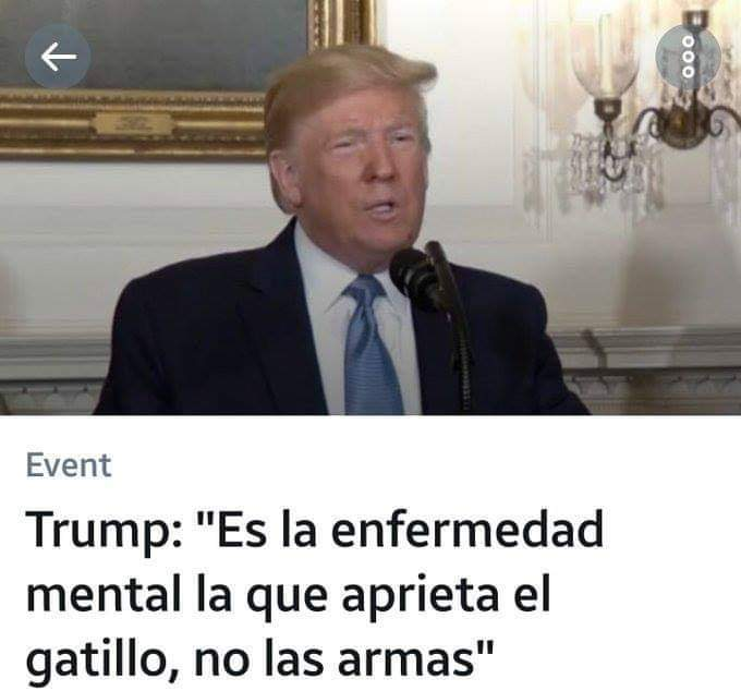 LA SALUD MENTAL REPUDIA LAS DECLARACIONES DEL PRESIDENTE DE EEUU.