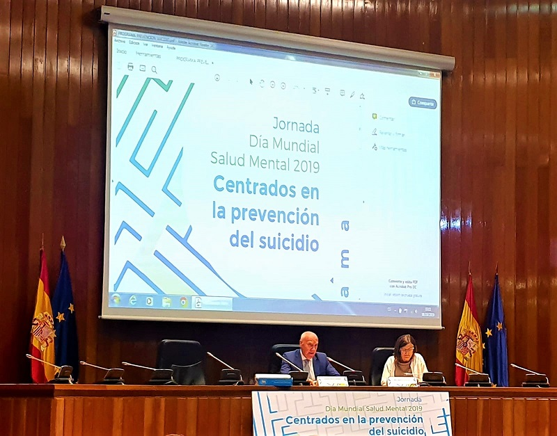 PREVENCIÓN DEL SUICIDIO EN IMÁGENES EN EL MINISTERIO DE SANIDAD.
