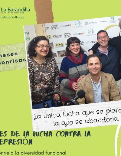 Borja Cabezon Royo diputado del PSOE en la Comunidad de Madrid y el equipo del programa Conecta con nosotros.