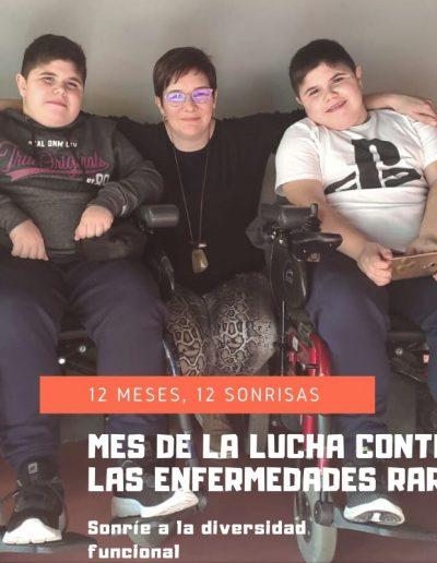 Irene Peralta y sus dos hijos