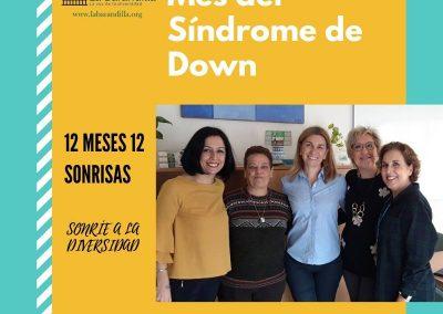 Parte del equipo directivo de la entidad social ASISPA se suman a la campaña en favor del Síndrome Down