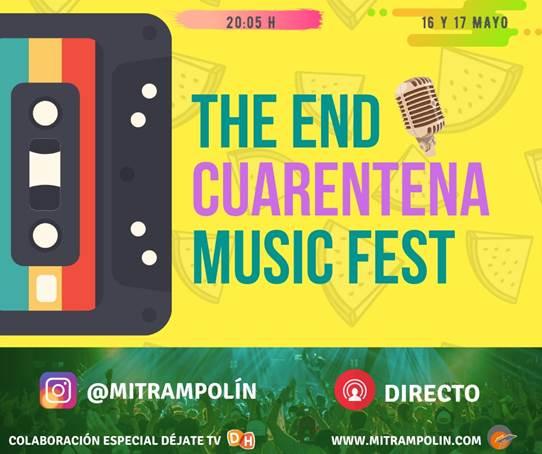 Más de treinta artistas actuán este sábado y domingo en 'The End Cuarentena Music Fest'
