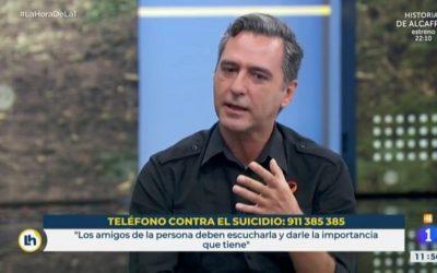 Javi Martín y Junibel Lancho en Tve en el día de la prevención del suicidio